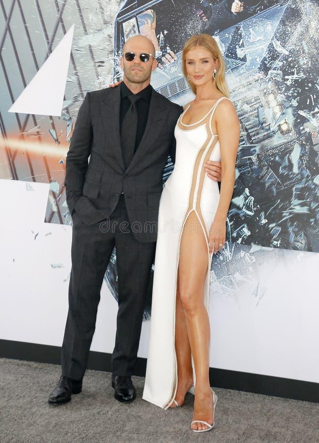 Rosa huntington i Jason Statham fotografia stock