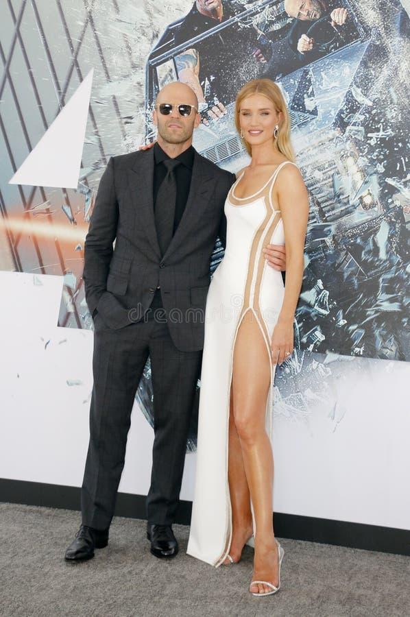 Rosa huntington i Jason Statham obraz royalty free