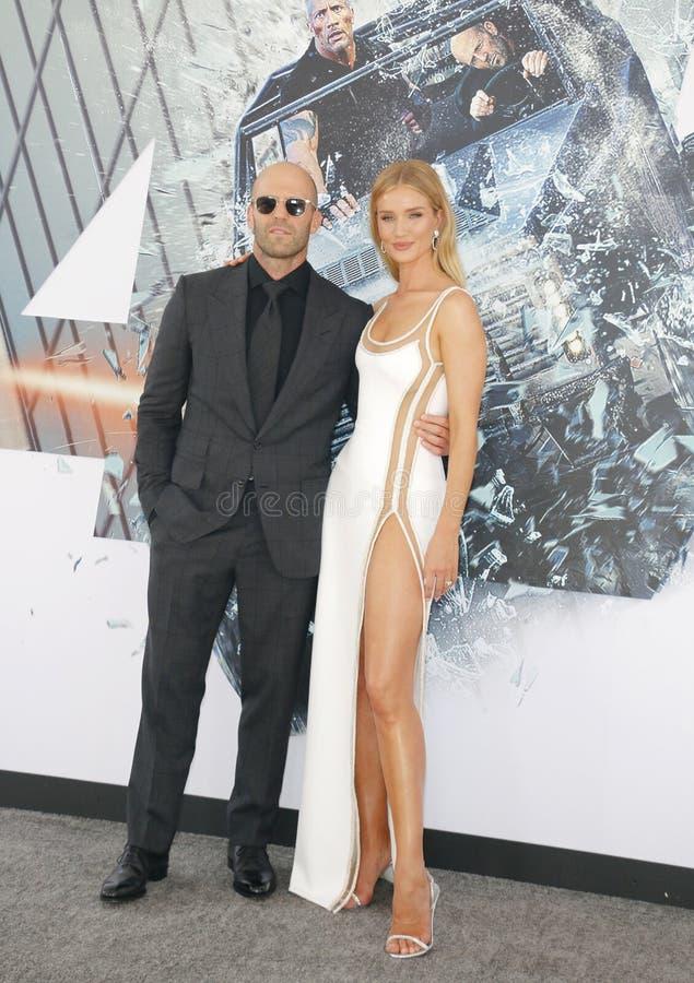 Rosa huntington i Jason Statham zdjęcie royalty free