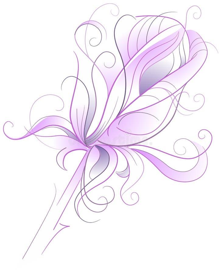 Rosa - illustrazione artistica di vettore illustrazione vettoriale