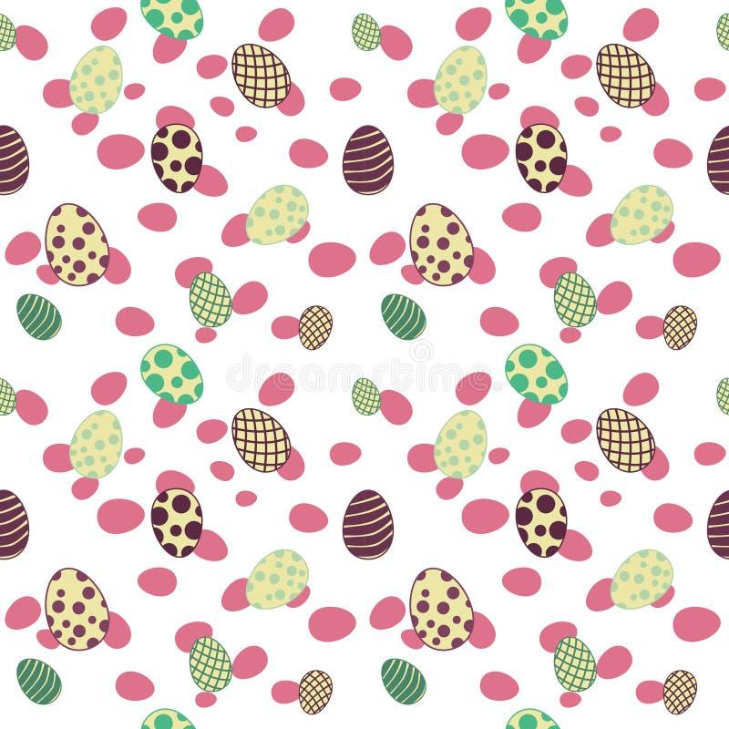 Rosa inconsútil del modelo de los huevos de Pascua fotografía de archivo libre de regalías
