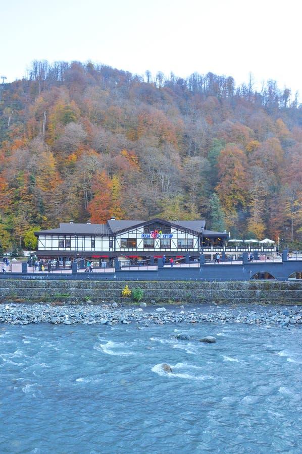 Rosa Khutor Alpine Resort royaltyfri fotografi