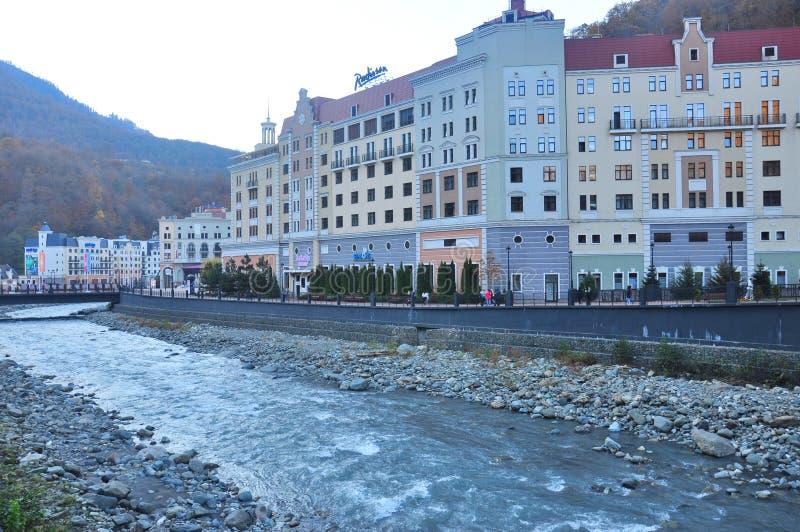 Rosa Khutor Alpine Resort fotografering för bildbyråer