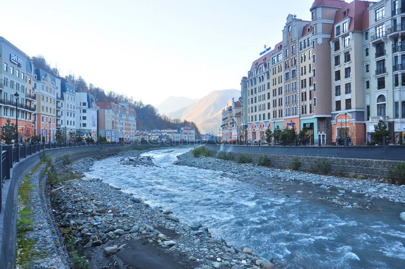 Rosa Khutor Alpine Resort arkivbild