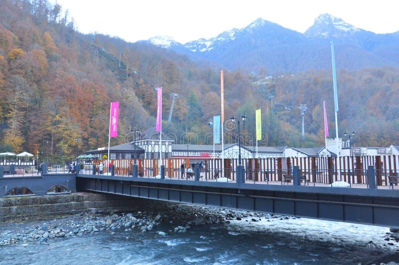 Rosa Khutor Alpine Resort arkivfoto