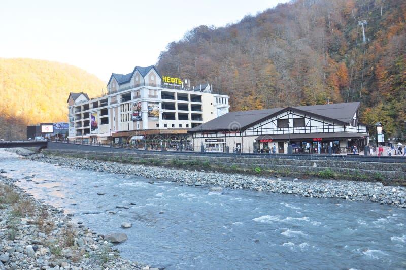 Rosa Khutor Alpine Resort arkivfoton