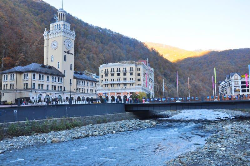 Rosa Khutor Alpine Resort royaltyfria bilder