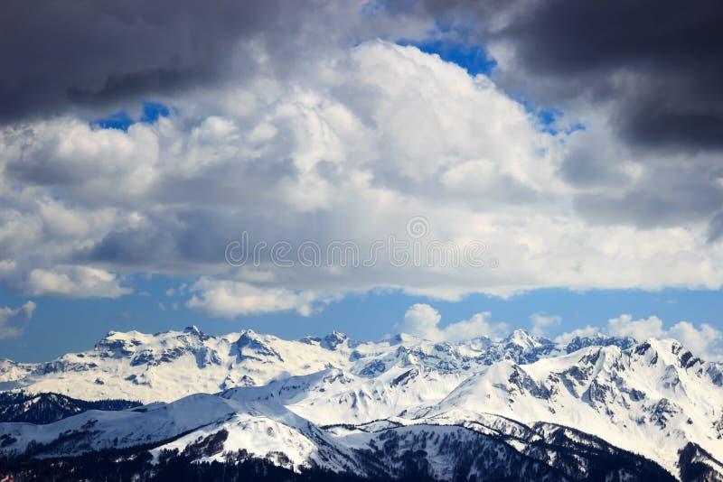 Rosa Khutor Alpine Resort in Sochi stockbilder
