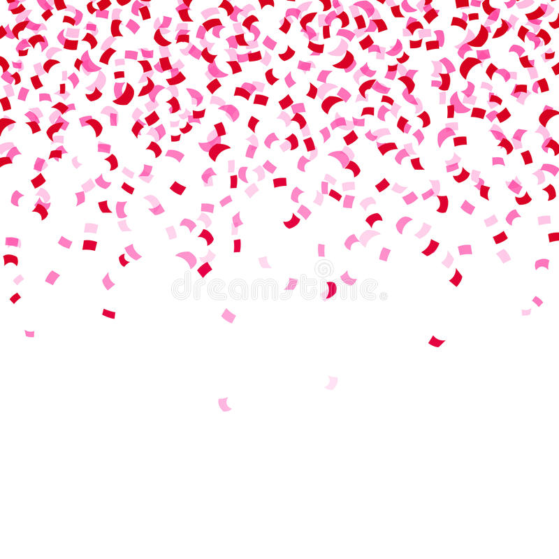 Rosa Konfettis stock abbildung