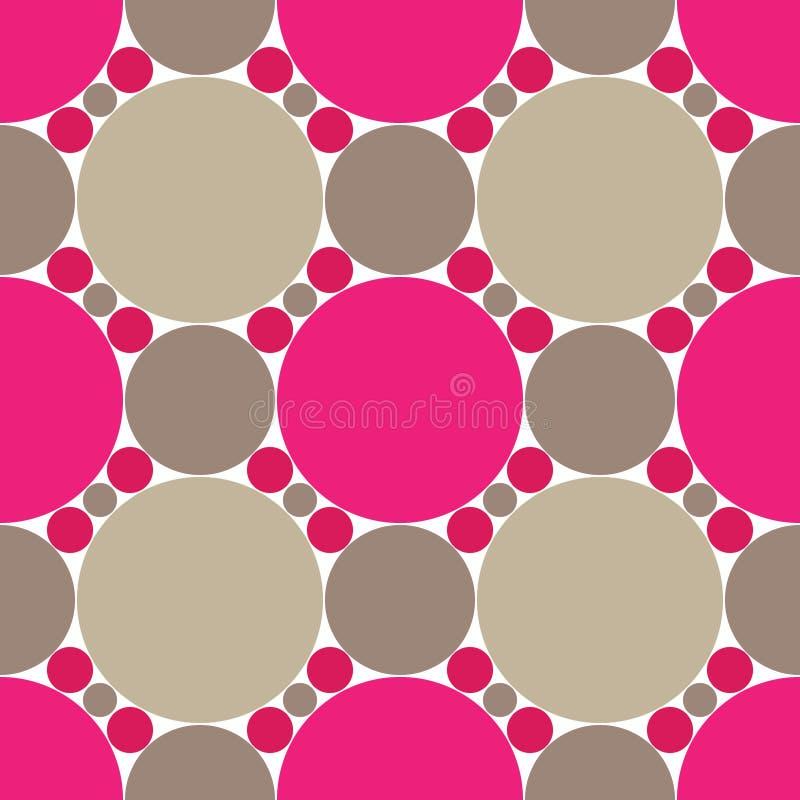 Rosa kreist nahtloses Muster ein vektor abbildung