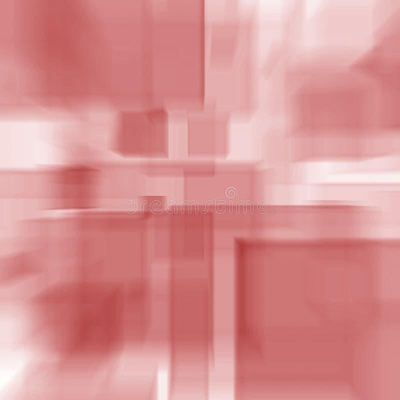 Rosa Kubikpastellwürfel, die futuristische Linien nahtlose Beschaffenheit beleuchten stock abbildung