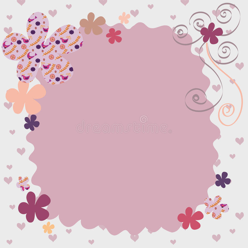 rosa kupa för bakgrund royaltyfri illustrationer