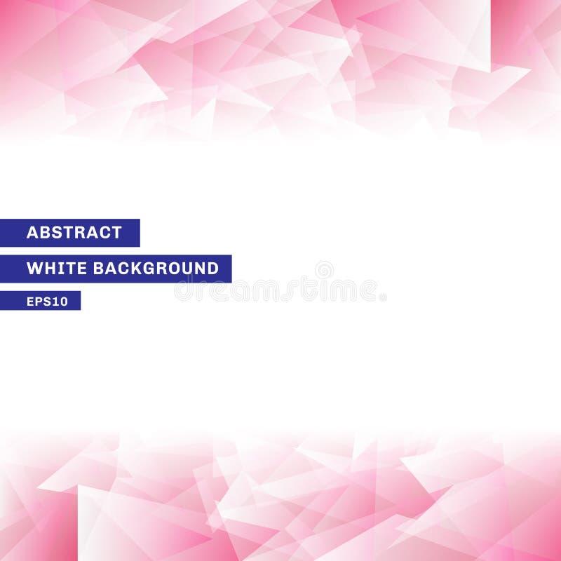 Rosa låg poly moderiktig vit bakgrund för abstrakt mall med kopieringsutrymme Du kan använda för websiten, broschyren, reklamblad vektor illustrationer