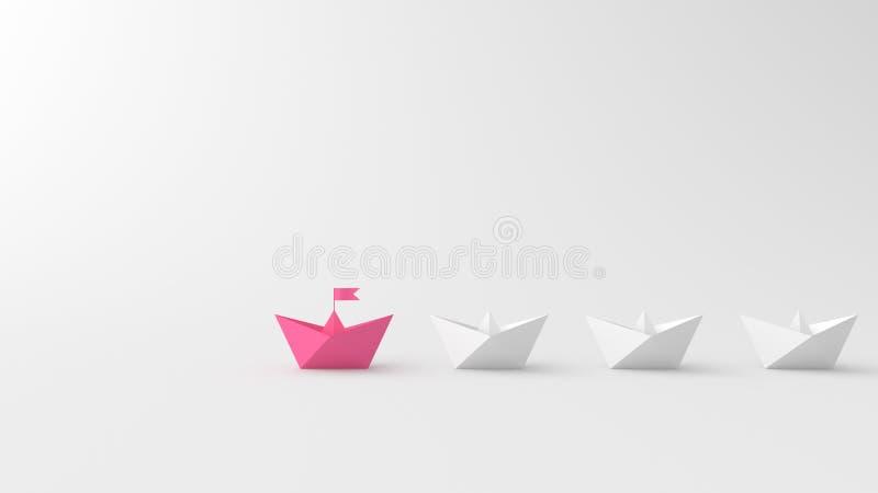 Rosa ledarefartyg stock illustrationer