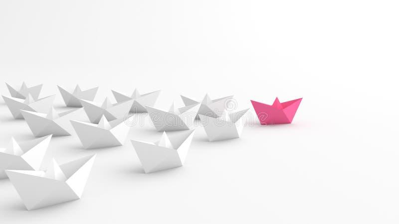 Rosa ledarefartyg vektor illustrationer
