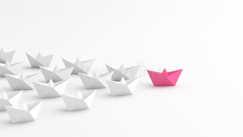 Rosa ledarefartyg royaltyfri illustrationer