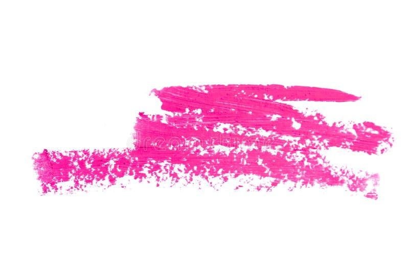 Rosa Lippenstiftbeschaffenheit Lokalisiert auf weißem, rosa Abstrich stock abbildung