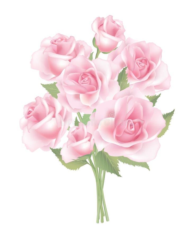 Rosa liten bukett för blomma royaltyfri illustrationer