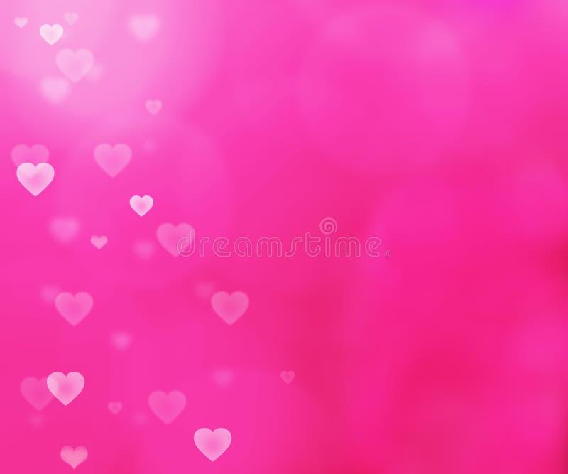 Rosa ljus bakgrund för valentin` s royaltyfri illustrationer