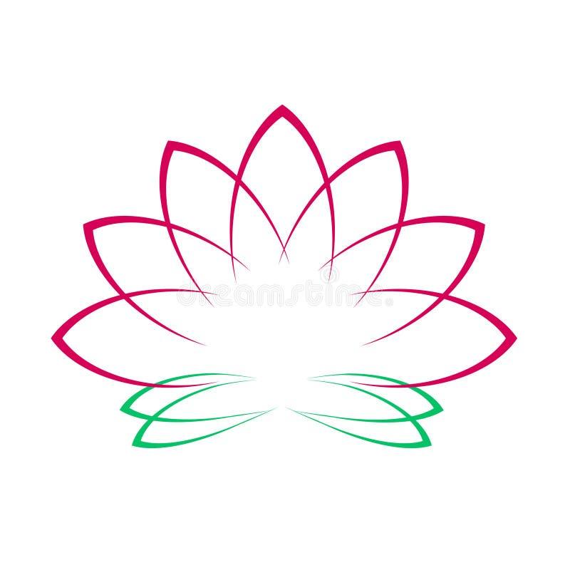 Rosa Lotus Flower Icon Logo auf weißer Hintergrund-Illustration vektor abbildung