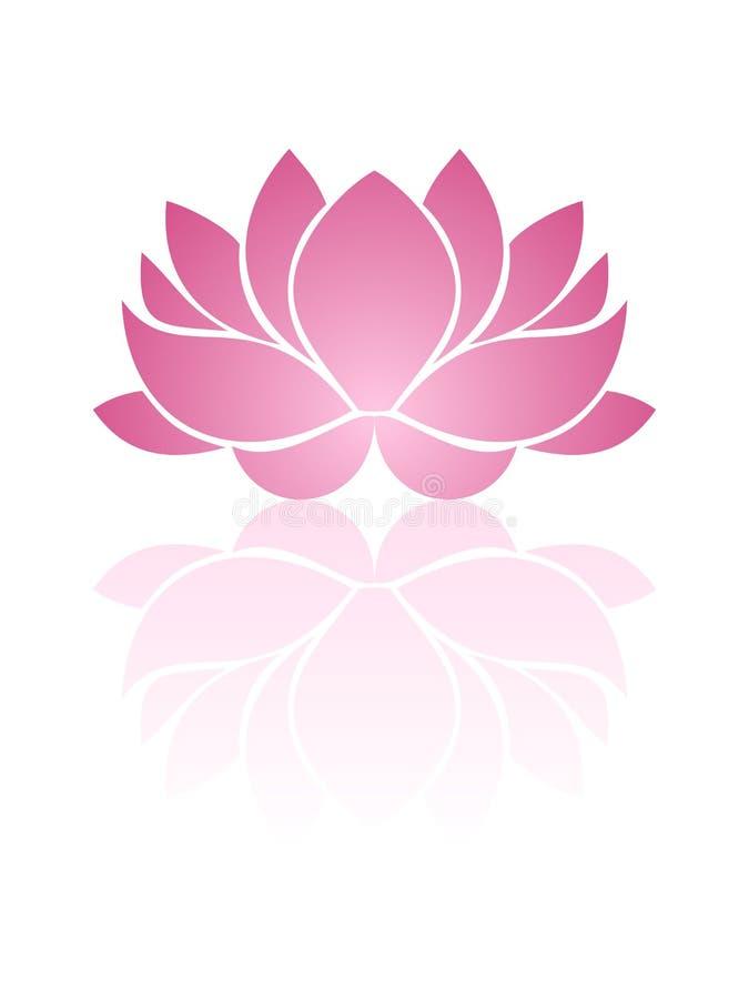 Rosa lotusblomma. stock illustrationer