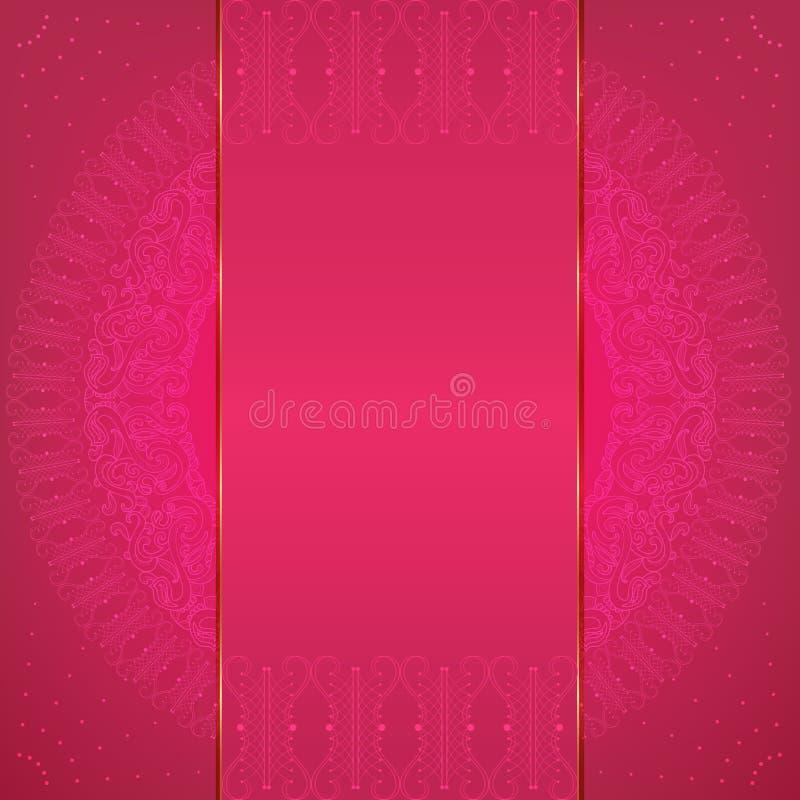 Rosa Luxuskarte lizenzfreie abbildung