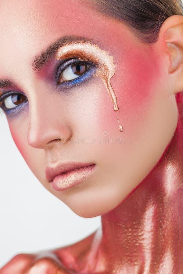 Rosa Make-up lizenzfreies stockbild