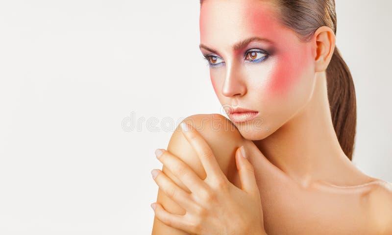 Rosa Make-up lizenzfreie stockfotos