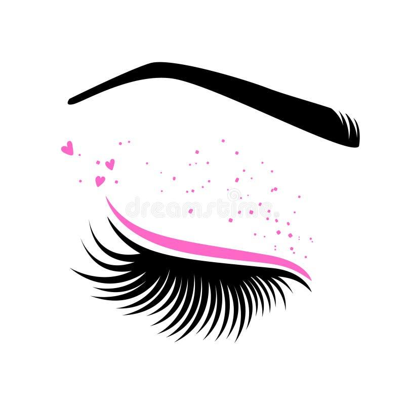 Rosa makeup för dag för valentin` s vektor illustrationer