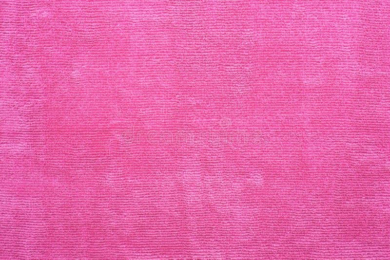 Rosa Microfiber-Stoff stockfotos