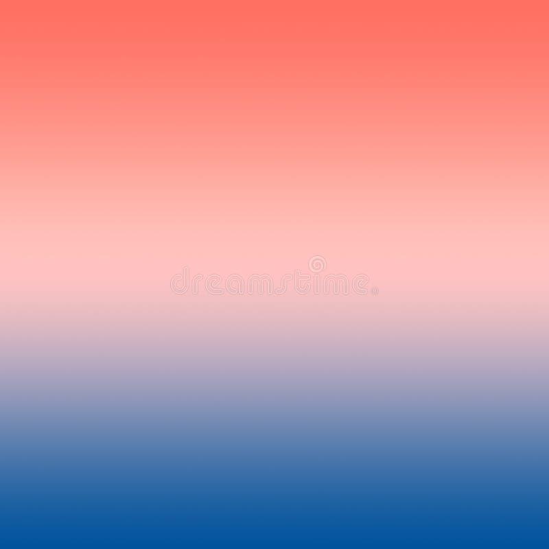Rosa milenar Coral Blue Gradient Ombre Background ilustração royalty free
