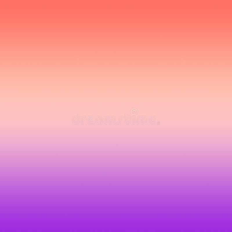 Rosa milenar Coral Violet Gradient Ombre Background ilustração stock