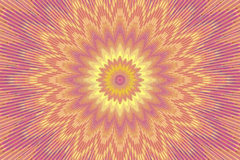 Rosa mit BlumenKaleidoskop des Blumenmusters graphiken lizenzfreie abbildung