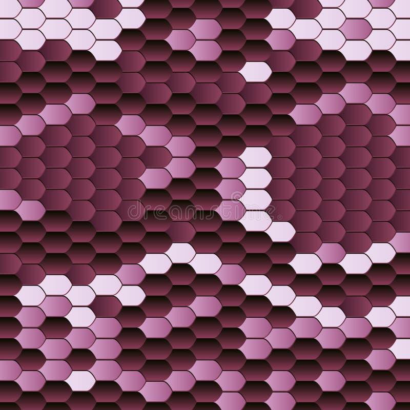 Rosa modell för ormhud i tappningstil Mönstrad djur hud för textur seamless vektor för abstrakt modell Djurt tryck royaltyfri illustrationer