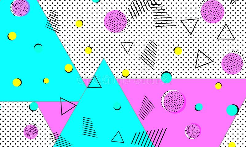 Rosa moderna skrivbordsunderlägg Azure Decorative Pattern stock illustrationer