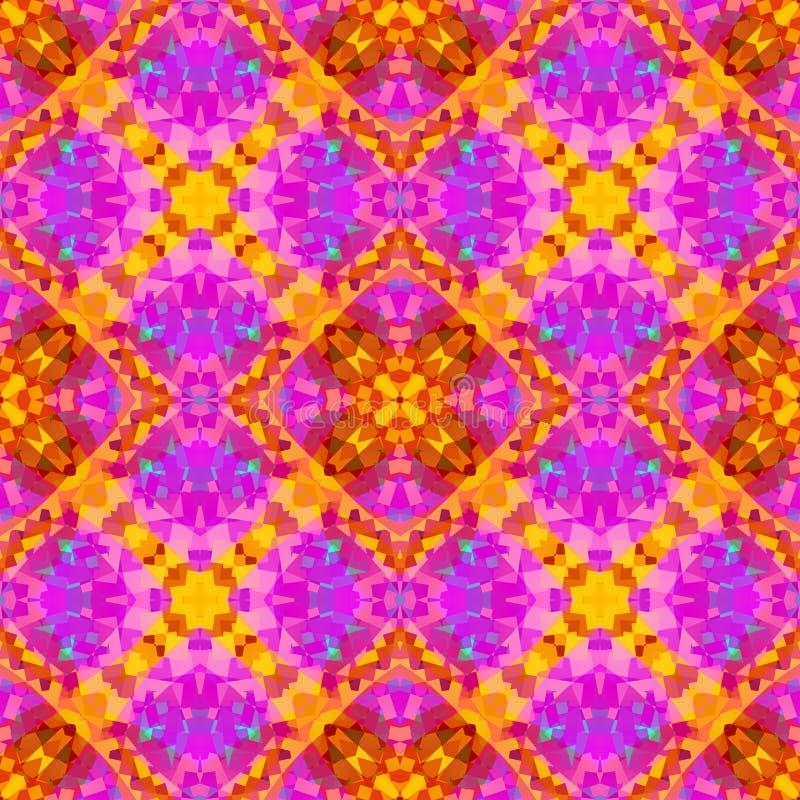 Rosa moderne abstrakte Beschaffenheit Ausführliche Hintergrundillustration Geometrische nahtlose Fliese Kaleidoskopeffekt Hauptde lizenzfreie abbildung