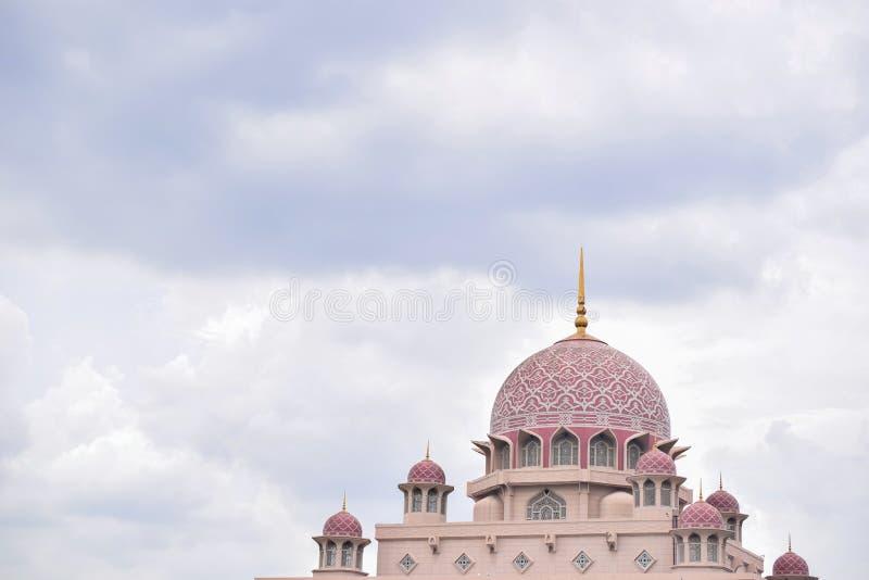 Rosa Moschee mit einem blauen Hintergrund Putra, Putrajaya Masjid stockfotografie