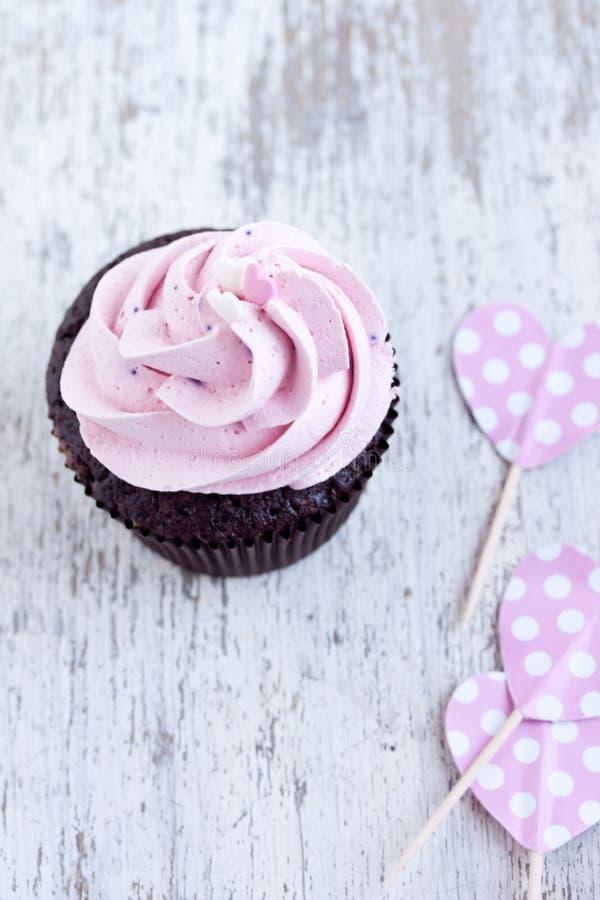 Rosa muffin royaltyfri bild