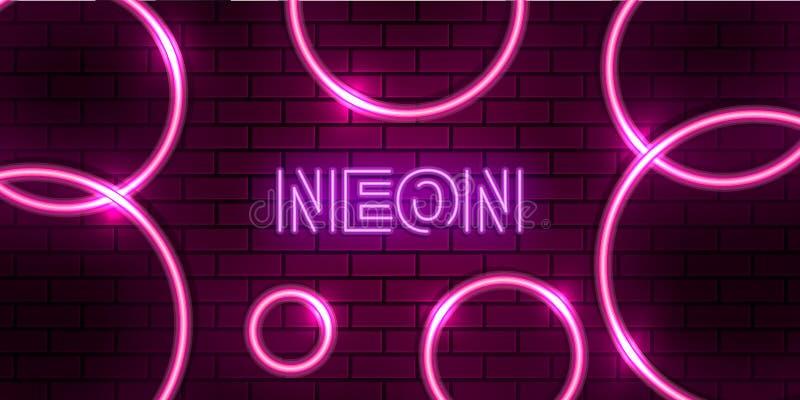 rosa neonbakgrund för abstrakt cirkel royaltyfri bild