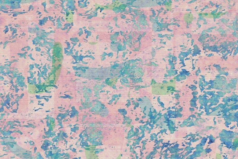 Rosa och blå bakgrund för Grunge royaltyfri foto