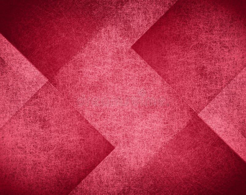 Rosa och röd bakgrundsdesign, abstrakt kvartermodell arkivbild