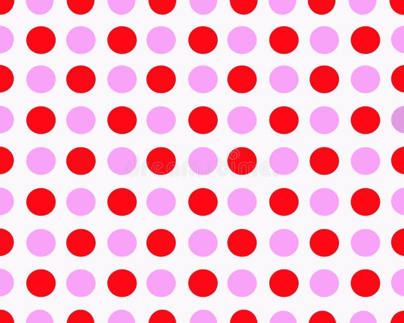 Rosa och röd prickig bakgrund arkivfoton