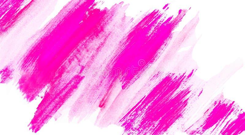 Rosa och vit, abstrakt bakgrund med diagonalt linjemönster royaltyfria foton