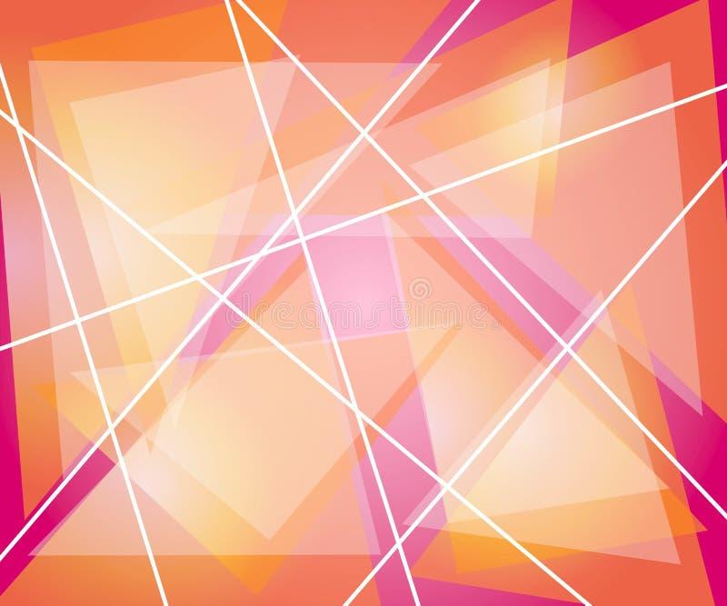 Rosa orange Dreieck-Linien lizenzfreie stockfotos