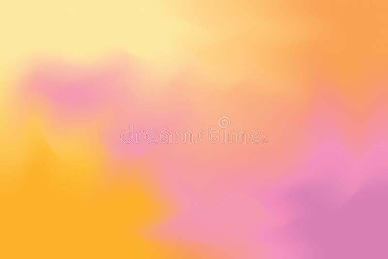 Rosa orange weiche Farbe mischte Hintergrundmalerei-Kunst-Pastellzusammenfassung, bunte Kunsttapete stock abbildung