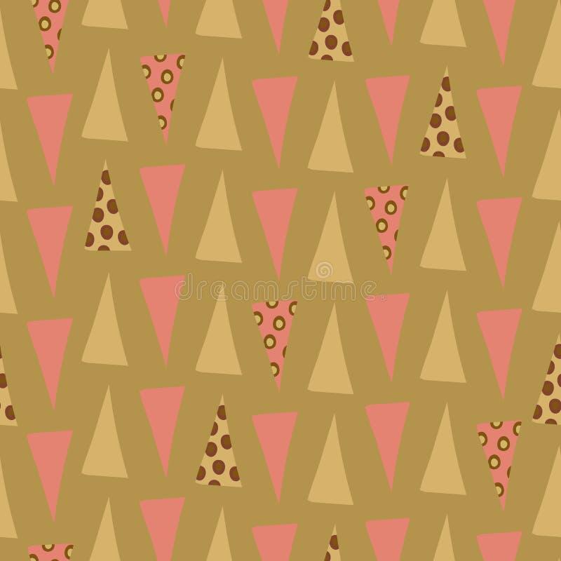 Rosa originale e miscuglio verde del triangolo royalty illustrazione gratis