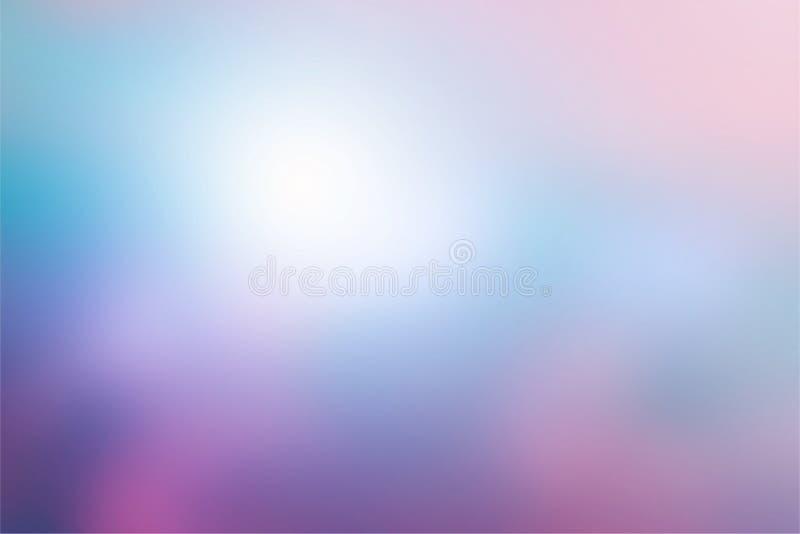 Rosa púrpura en colores pastel de la pendiente simple y fondo abstracto azul para el diseño del fondo libre illustration