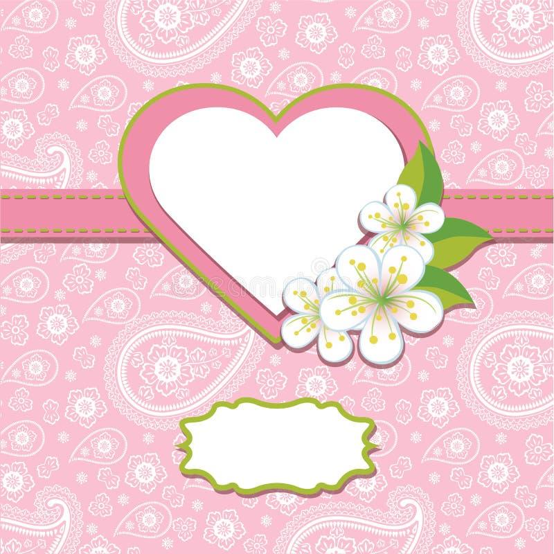 Rosa Paisley-Designschablone oder -grafik. Frühlings-BAC lizenzfreie abbildung
