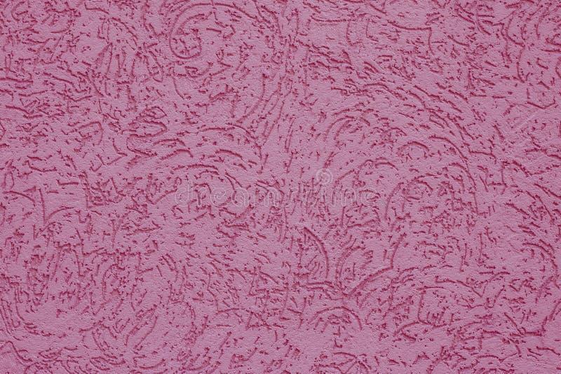 Rosa Papierbeschaffenheitsweinlesehintergrund Abstraktes Muster auf Pinkwand Die gewellte rosa Oberfläche der Betonmauer Rosiges  lizenzfreie stockbilder