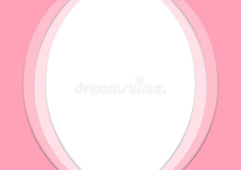Rosa Papierkurven-Stapel-Zusammenfassungs-Hintergrund vektor abbildung